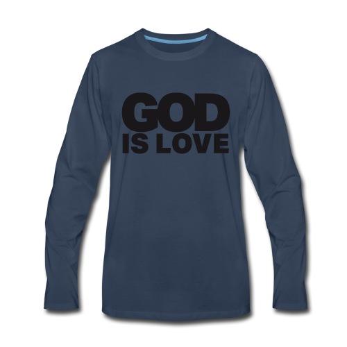 God Is Love - Ivy Design (Black Letters) - Men's Premium Long Sleeve T-Shirt