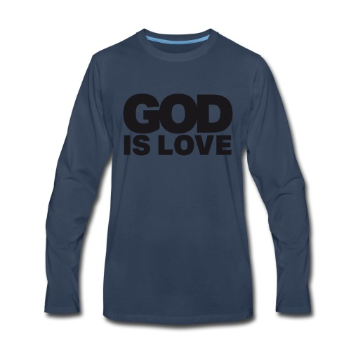 God Is Love - Ivy Design (Black Letters) - Men's Premium Long Sleeve T-Shirt