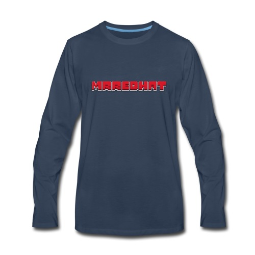 MrRedHat Plain Logo - Men's Premium Long Sleeve T-Shirt