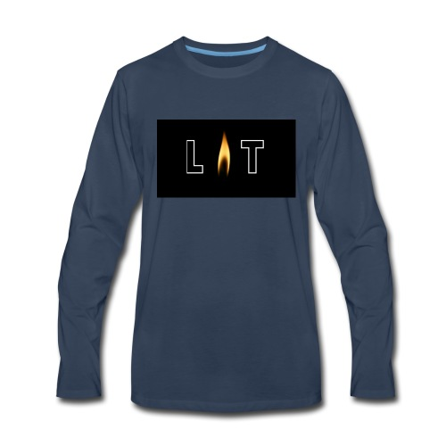 LIT LOGO DESIGN - Men's Premium Long Sleeve T-Shirt