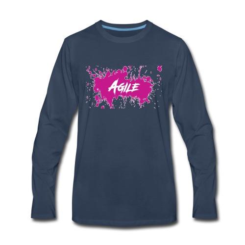 AgileNation Splatter Design - Men's Premium Long Sleeve T-Shirt