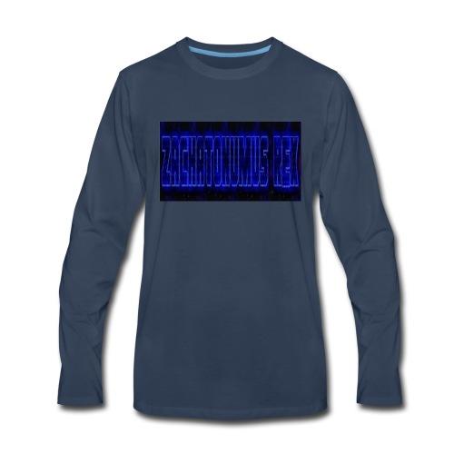 blue fire logo - Men's Premium Long Sleeve T-Shirt