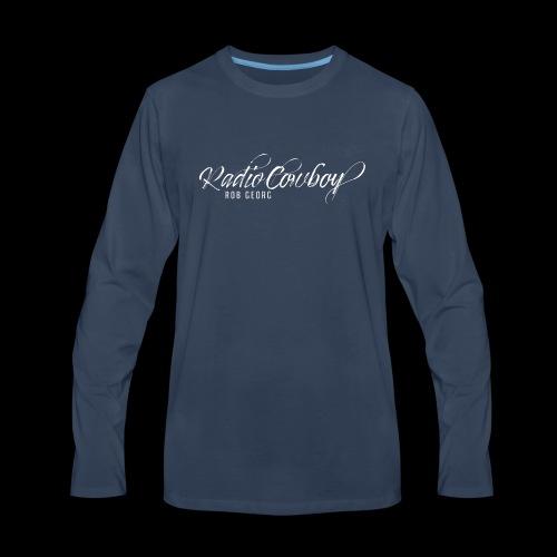 Radio Cowboy Merch - Front Design - Men's Premium Long Sleeve T-Shirt