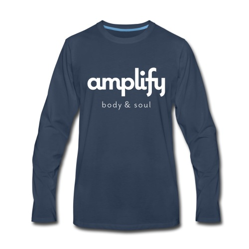 amplify logo - Men's Premium Long Sleeve T-Shirt