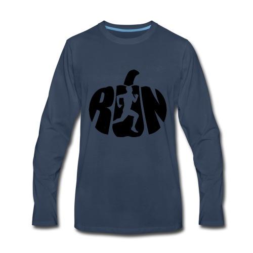 Halloween Running Pumpkin - Men's Premium Long Sleeve T-Shirt