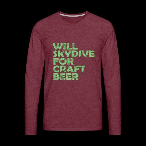 skydive for craft beer - Men's Premium Long Sleeve T-Shirt