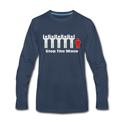 Men's Stop The Wave Logo T-Shirt - Men's Premium Long Sleeve T-Shirt