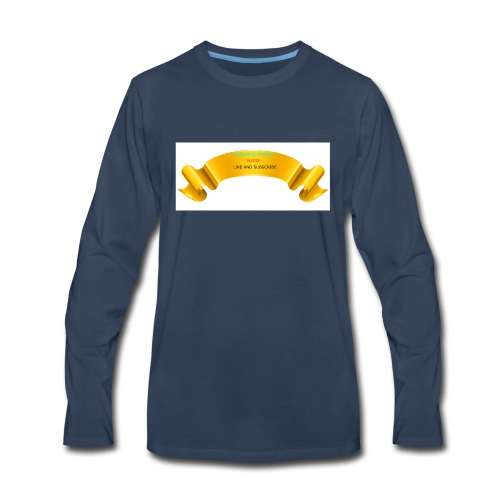 Gold PNG Image - Men's Premium Long Sleeve T-Shirt