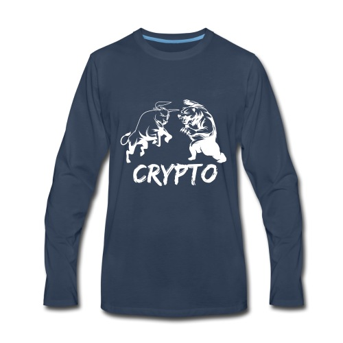 CryptoBattle White - Men's Premium Long Sleeve T-Shirt