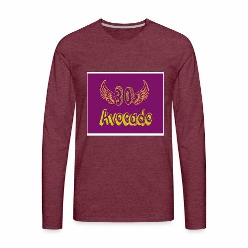 Thirdy Avocado logo - Men's Premium Long Sleeve T-Shirt