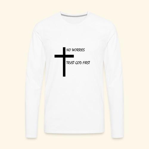 No Worries - Men's Premium Long Sleeve T-Shirt
