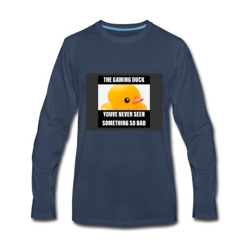 The Gaming Duck meme - Men's Premium Long Sleeve T-Shirt