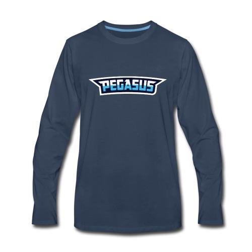 Mr Pegasus Text - Men's Premium Long Sleeve T-Shirt