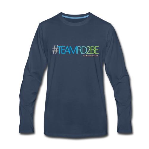 team rd2be transparent 2 png - Men's Premium Long Sleeve T-Shirt