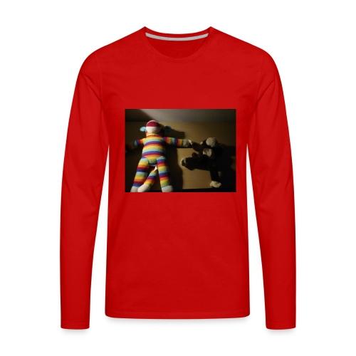 Monkey love - Men's Premium Long Sleeve T-Shirt