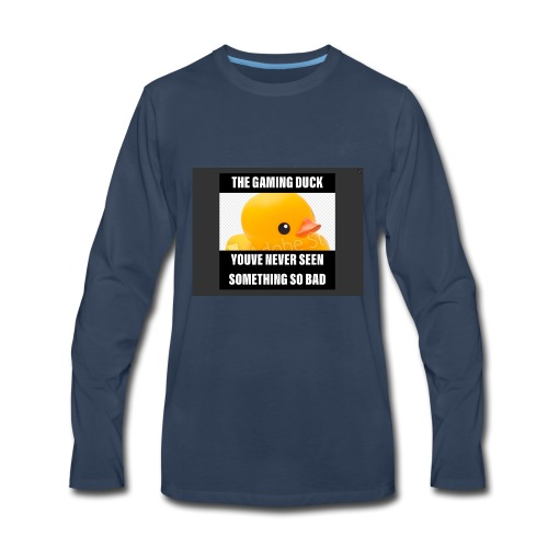 The Gaming Duck meme - Men's Premium Long Sleeve T-Shirt