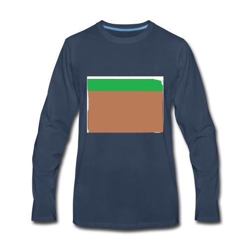 Grass block - Men's Premium Long Sleeve T-Shirt