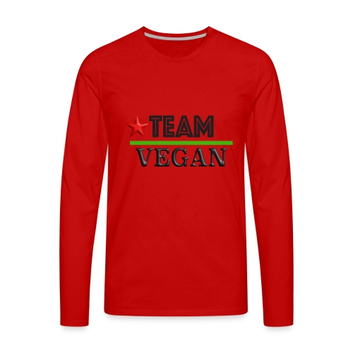 TEAM VEGAN - Men's Premium Long Sleeve T-Shirt