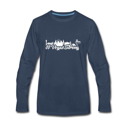 VegasStrong2wht - Men's Premium Long Sleeve T-Shirt