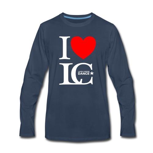 I Heart LCDance - Men's Premium Long Sleeve T-Shirt