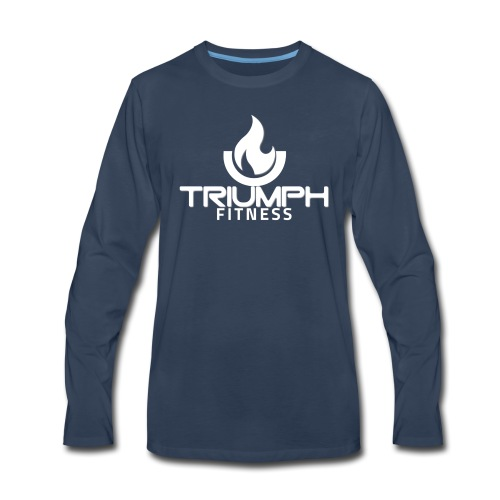triumph 01clear white - Men's Premium Long Sleeve T-Shirt