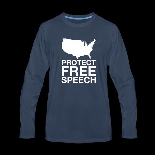 Protect Free Speech - Men's Premium Long Sleeve T-Shirt