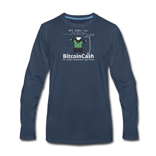 Bitcoin Cash RFC 1925 (7a) Green logo - Men's Premium Long Sleeve T-Shirt