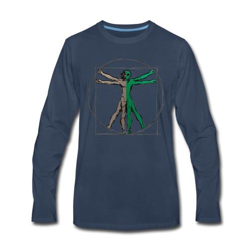 Da Vinci Alien Man - Men's Premium Long Sleeve T-Shirt
