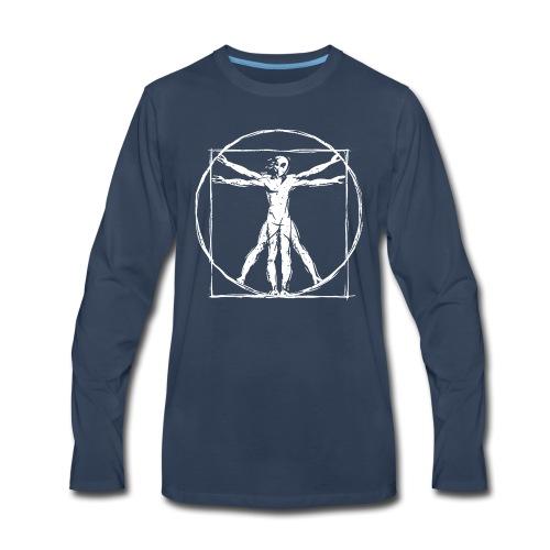 Da Vinci Vitruvian Alien Man - Men's Premium Long Sleeve T-Shirt