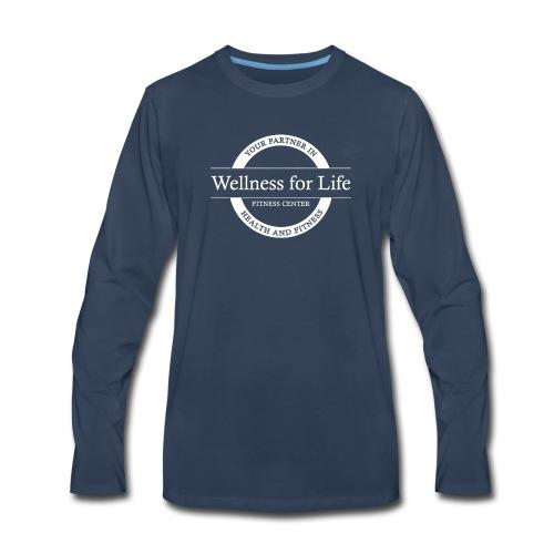 White WFL Logo - Men's Premium Long Sleeve T-Shirt