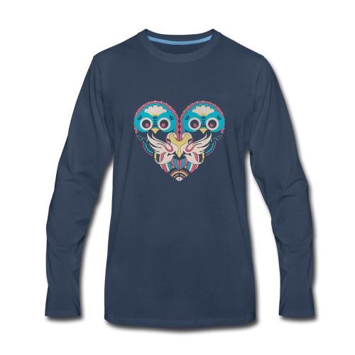 Cool Couple Heart Design Artistic Shirt - Men's Premium Long Sleeve T-Shirt
