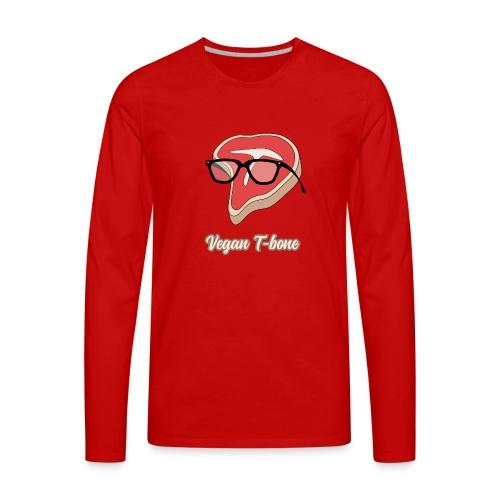 Vegan T bone - Men's Premium Long Sleeve T-Shirt
