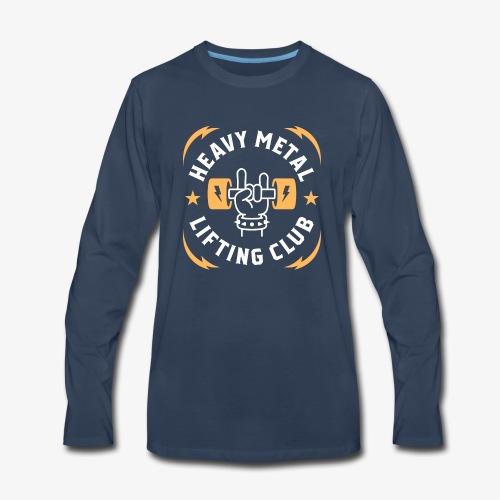 Heavy Metal Lifting Club (Yellow) - Men's Premium Long Sleeve T-Shirt