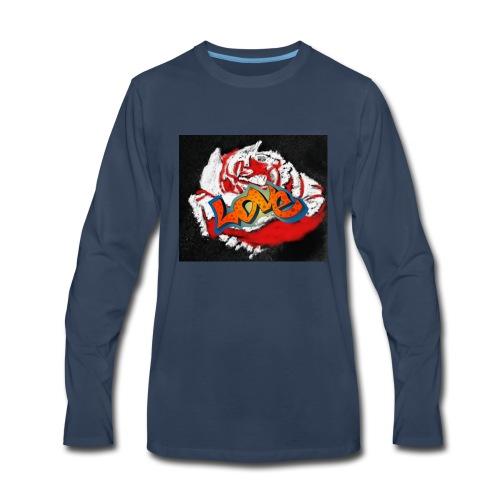 Rose. Love - Men's Premium Long Sleeve T-Shirt