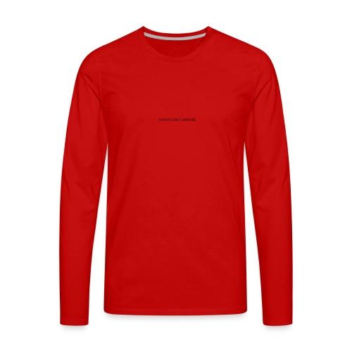 Shoot. Edit. Inspire - Men's Premium Long Sleeve T-Shirt