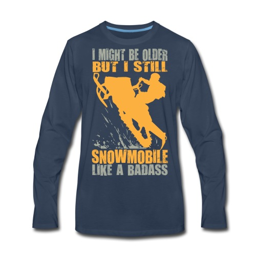 Snowmobile Old Badass - Men's Premium Long Sleeve T-Shirt