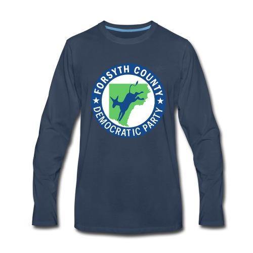 Forsyth County Democratic Party Logo - Men's Premium Long Sleeve T-Shirt