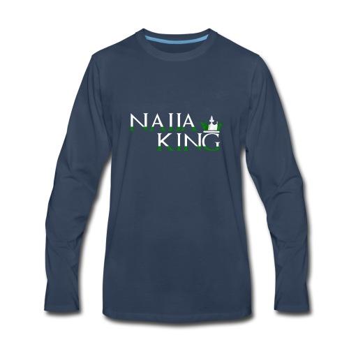 Naija King Tee Shirt - Men's Premium Long Sleeve T-Shirt