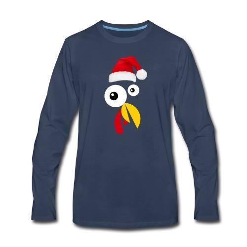 Turkey Face christmas TShirt - Men's Premium Long Sleeve T-Shirt