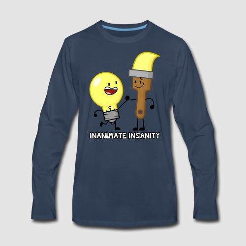 Lightbulb Paintbrush Duo - Men's Premium Long Sleeve T-Shirt
