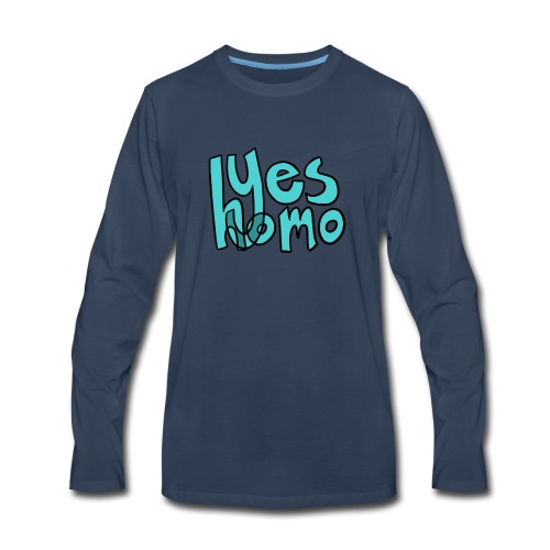 Yes Homo (Solid) - Men's Premium Long Sleeve T-Shirt