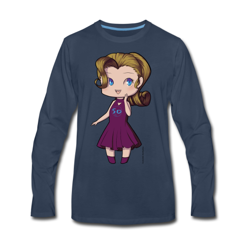 Anime Chibi Girl - Men's Premium Long Sleeve T-Shirt