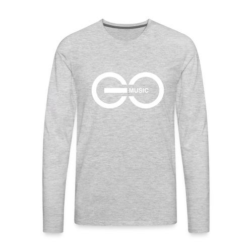 GOMusic logo - Men's Premium Long Sleeve T-Shirt