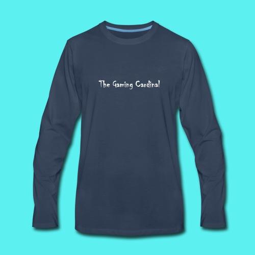 white logo text - Men's Premium Long Sleeve T-Shirt