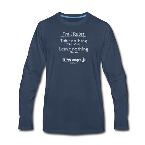 Trail Rules- White - Men's Premium Long Sleeve T-Shirt
