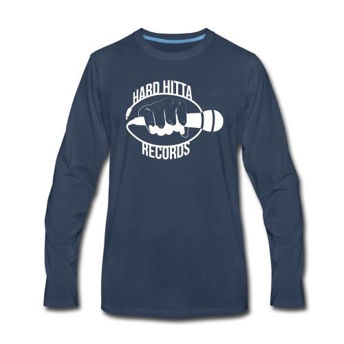 HARD_HITTA_LOGO_W - Men's Premium Long Sleeve T-Shirt