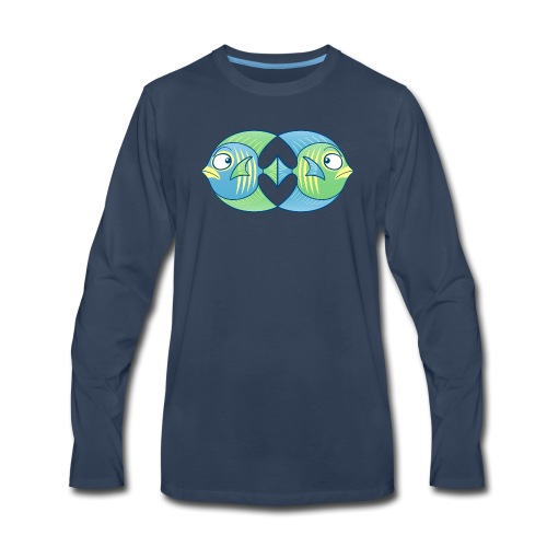 Tropical fishes remain in love despite conflicts - Men's Premium Long Sleeve T-Shirt