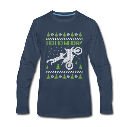 Motorcycle Ugly Christmas - Men's Premium Long Sleeve T-Shirt