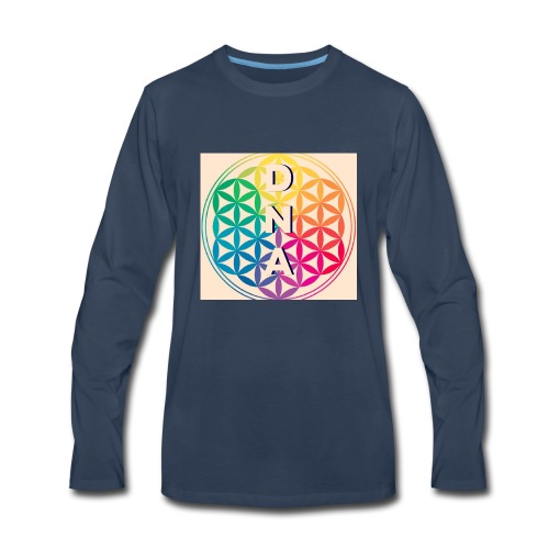 Flower of Life - DNA - Men's Premium Long Sleeve T-Shirt