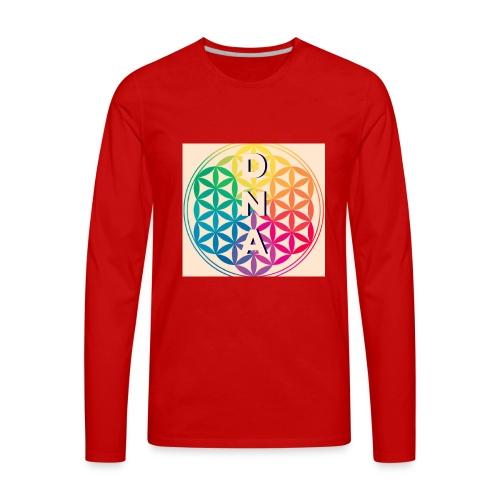 Flower of Life - DNA - Men's Premium Long Sleeve T-Shirt